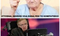 Styveno Hawkingo santykiai su mama