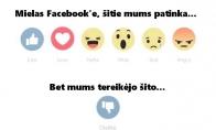 Nauji Facebook'o mygtukai