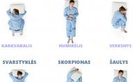 Kokia miego poza tinkamiausia tavo zodiako ženklui?