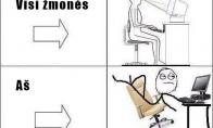 Kaip reikia sėdėti prie PC