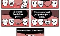 Pieninių dantukų galas