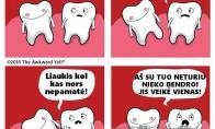 Prasikaltę dantys