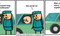 Susirūpinęs kelių policininkas