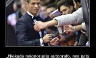Ronaldo apie autografus