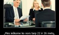 Kaip lengvai gauti darbą
