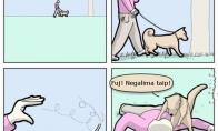 Jei žmones auklėtų šunys