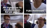 Alaus gėrimas lėktuve