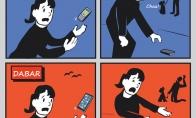 Telefonų kritimai anksčiau ir dabar