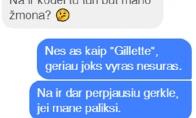 Mergina kaip Gillette