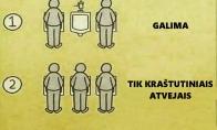 Nerašyta tvarka vyrų tualete