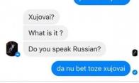 Anglakalbė flirtuotoja