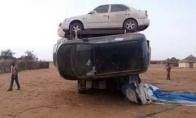 Kaip transportuojami automobiliai Sudane?