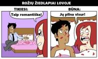 Romantiško poros gyvenimo realybė