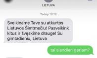 Lietuvos pasveikinimas