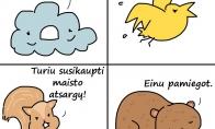 Kaip gyvūnėliai žiemai ruošėsi