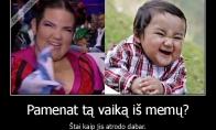Kuo vaiko vaikas iš memų