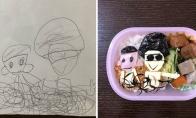 Vienas japonas gamina maistą pagal savo sūnaus piešinius [GALERIJA]