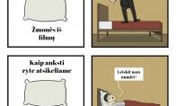 Atsikėlimas filmuose vs. realiame gyvenime