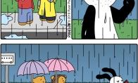 Dideli skėčiai ir mažas skėtis