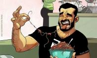 Kai mergina pagamina valgyti