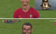 Ronaldo statula dabar sutampa su jo veido išraiška