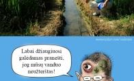Kai tikrina vandens užterštumą