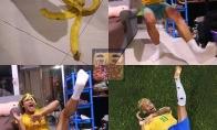 Saugokitės banano žievės