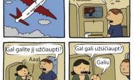 Vaikas lėktuve