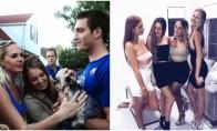 Nuotraukos, kuriose aiškiai matyti pavydžių žmonių žvilgsniai