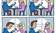 Kai vaikinas net per pasimatymą įlindęs į telefoną