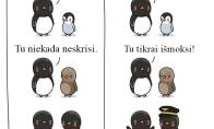 Pingvinas gali skristi