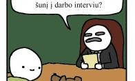 Kai atsivedi šunį į darbo interviu