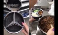 Mercedes vairuotojo lėkštė