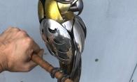 Skulptūros iš nebe naudojamų stalo įrankių (32 nuotraukos)