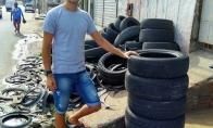 Brazilas atrado puikų būdą išmestoms senoms padangoms panaudoti