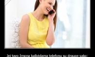 Kai žmona kalbasi su drauge