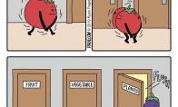 Pomidoras ir tualetas