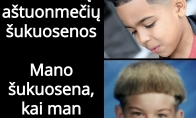 Aštuonmečių šukuosenos