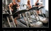 Vyrai ir moterys sportuoja vardan to paties tikslo
