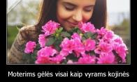 Gėlės moterims ir kojinės vyrams
