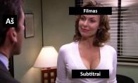 Kai žiūri filmą su subtitrais