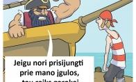 Rimtai nusiteikęs jūreivis
