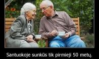 Santuokoje sunkūs tik pirmieji 50 metų