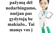 Dėl pažymos pas gydytoją