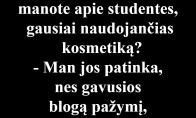 Apie kosmetiką ir studentes