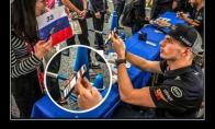 F1 vairuotojas ir fanė