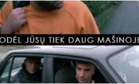 Kaip atsikirsti kai mašinoje per daug žmonių