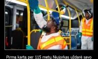 Pirmą kartą per 115 metų Niujorkas uždarė savo metro tam, kad galėtų jį dezinfekuoti