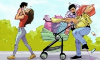 Kai po ilgo laiko išeini apsipirkti su žmona ir vaiku