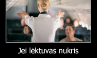 Svarbi informacija prieš skrydį